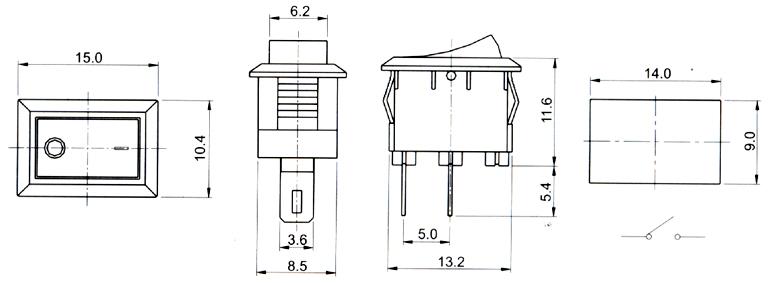 船型开关-供应船型开关rs-1210/拨动开关/叶片开关