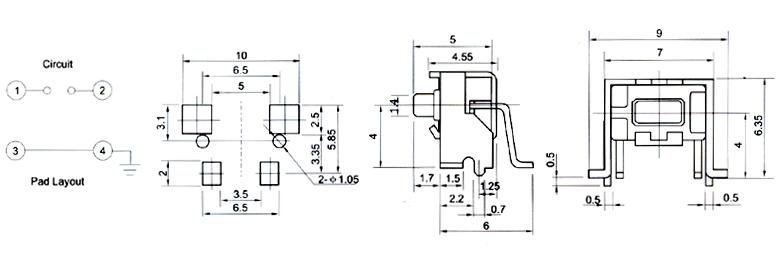 开关插座/轻触开关3×6tc-3606电器开关