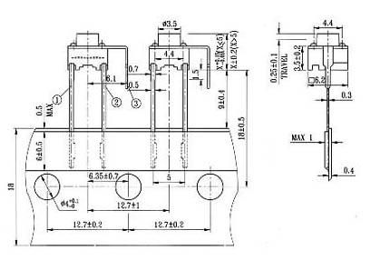 开关插座/轻触开关12×12tc-0312电器开关