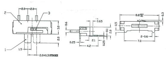 小拨动开关 MK12D70-E