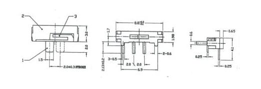 小拨动开关 MK12D70-H