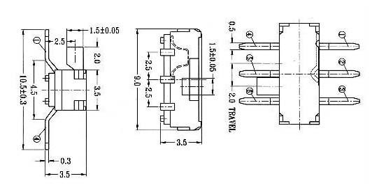 电动工具调速开关电动工具开关配件电动喷雾器开关电动三轮车倒顺开关