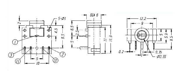 【供应dc插座st-212/电源开关/直键开关】价格